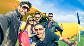 aeroplano, ragazzi, entusiasmo, incentive