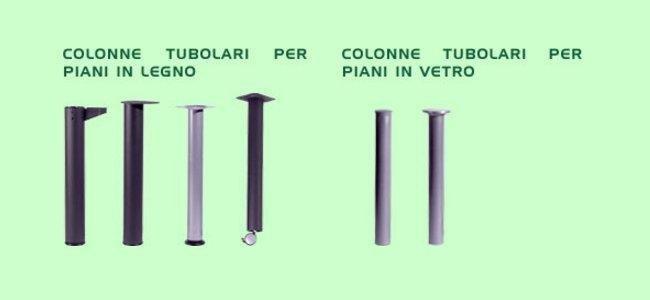 Colonne tubolarii per scrivanie