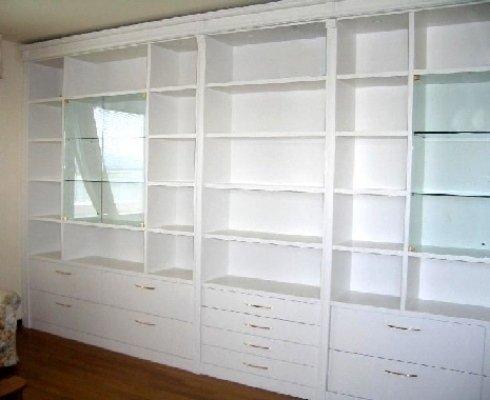 libreria legno bianco, libreria laccata, libreria legno laccato
