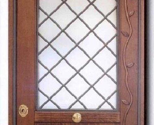 porte legno vetro, porta vetrina, produzione porte vetro
