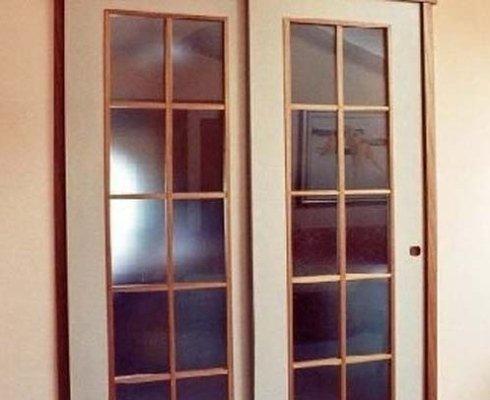 porte legno a vetri, produzione porte a vetri, falegnameria porte a vetri