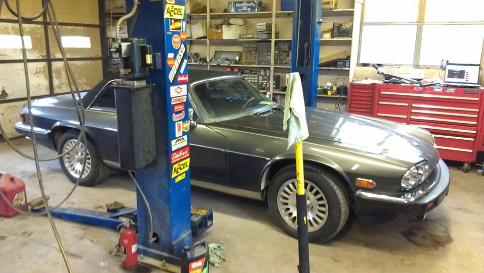 A foreign car repair in progress in Mountain Home, AR