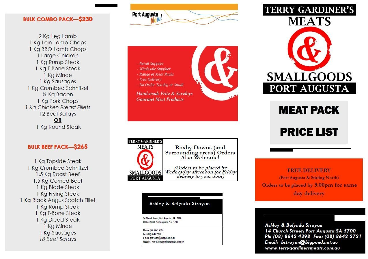 Butcher Port Augusta Meat Pack Brochure