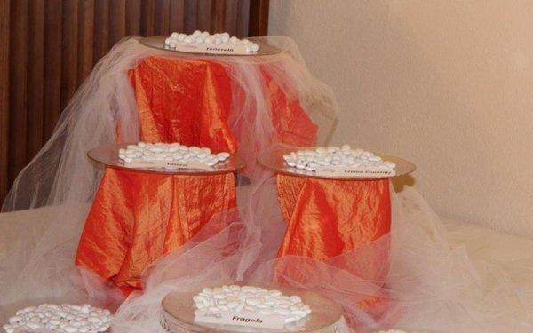 tavolo per confetti