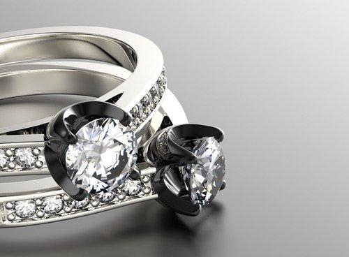 solitari in oro bianco e diamanti