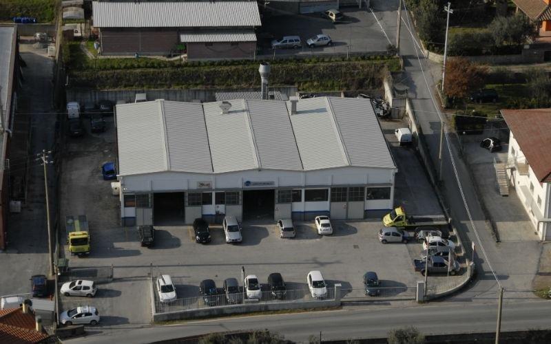 Foto aerea della carrozzeria a Pescia