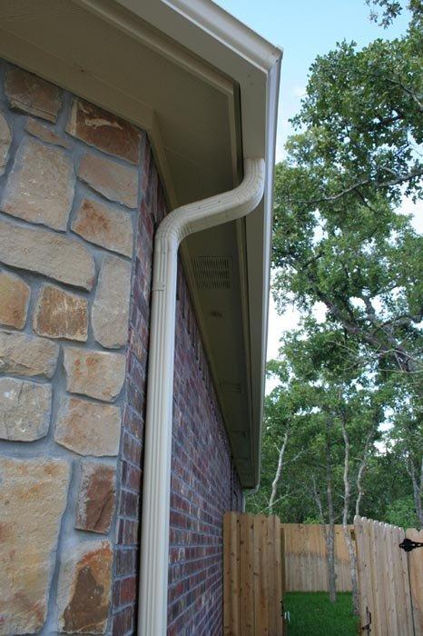 New Rain Gutter Installation In Bryan College Station