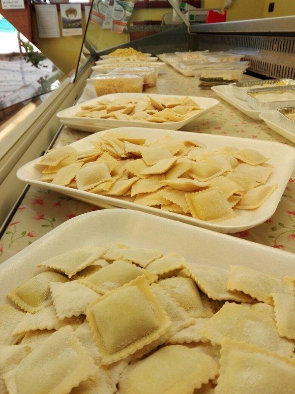 vassoi di pasta fresca