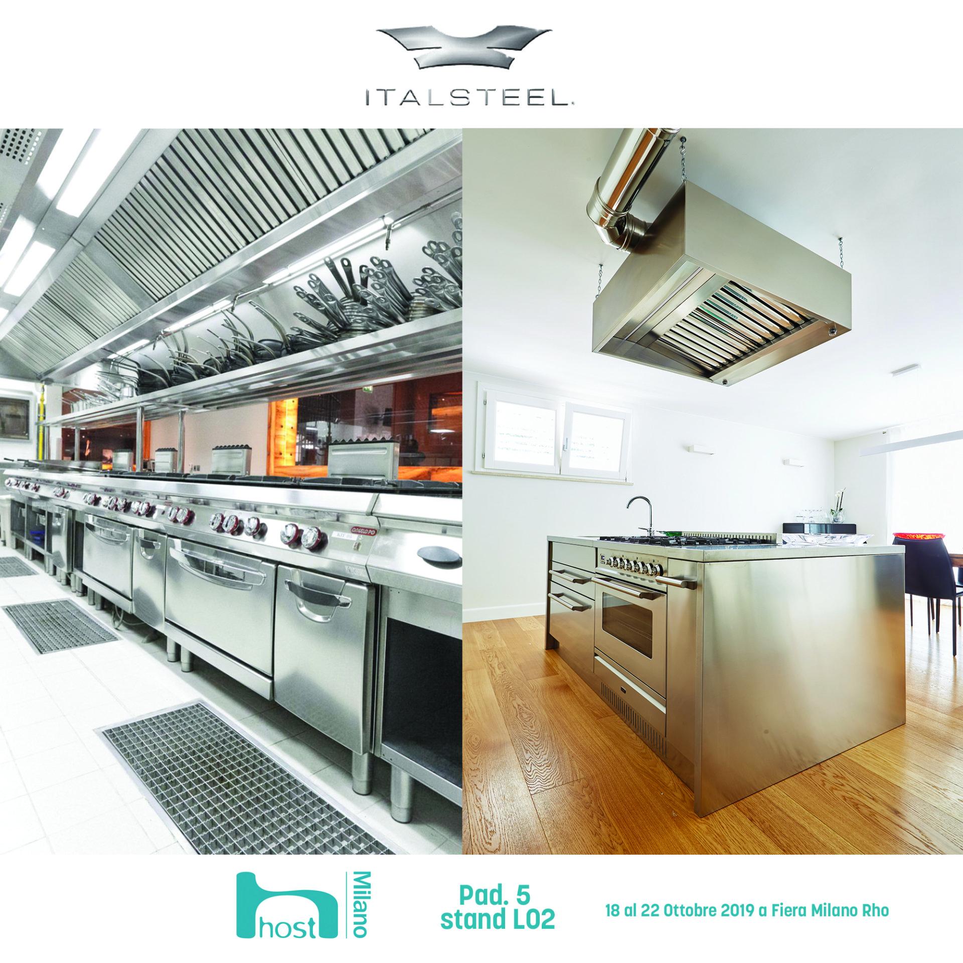 Mobili Cucina Professionale Acciaio.Produzione Mobili In Acciaio Inox Prato Italsteel
