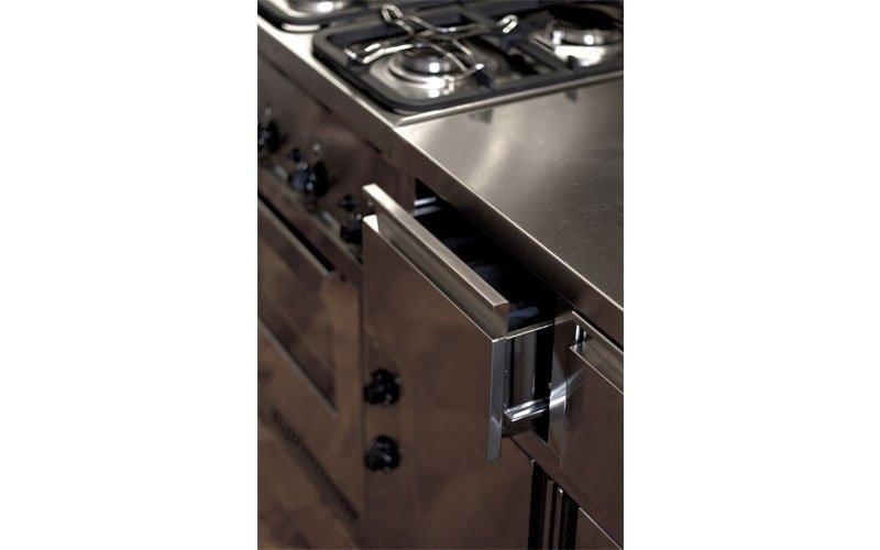 Arredamento cucine domestiche acciaio inox prato italsteel for Arredamento acciaio inox