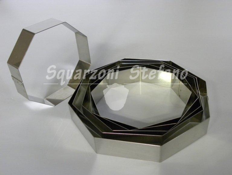 Anelli inox anelli ottagonali