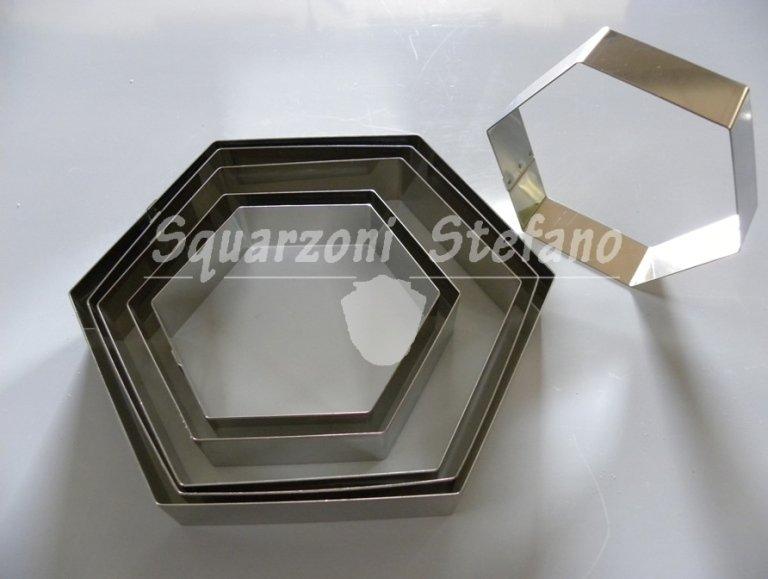 Anelli inox anelli esagonali