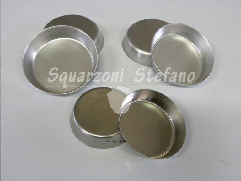 Cannole tartelle crostatine alluminio inox