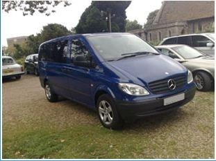 Mercedes group travel van
