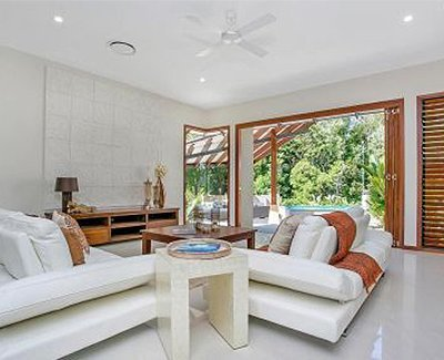 johnston joinery nice home with white sofa