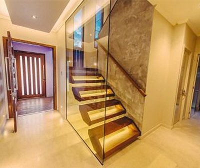 johnston joinery yellow stair case
