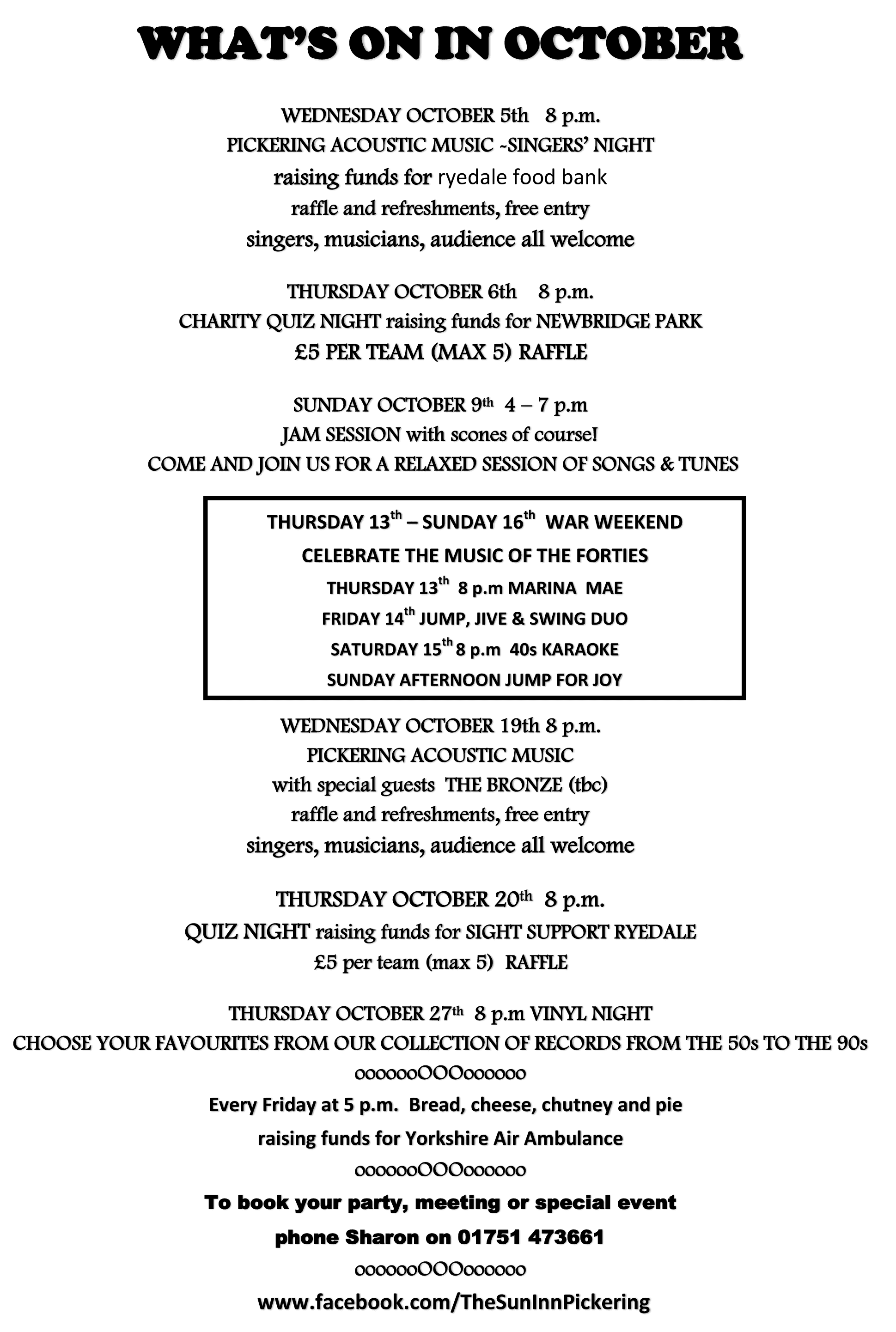 Whats On In September