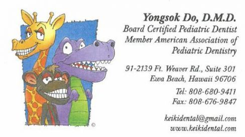 Contact info Keiki Dental