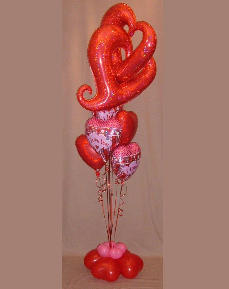 composizione palloncini San Valentino