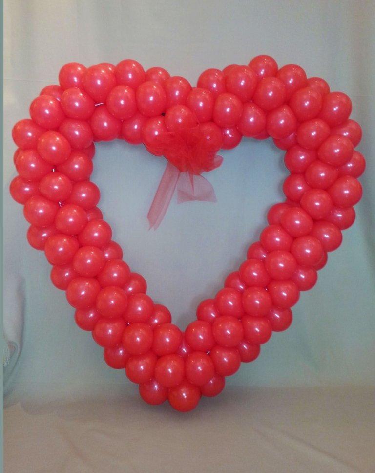 composizione palloncini a cuore