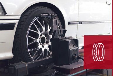 wheel being fitted