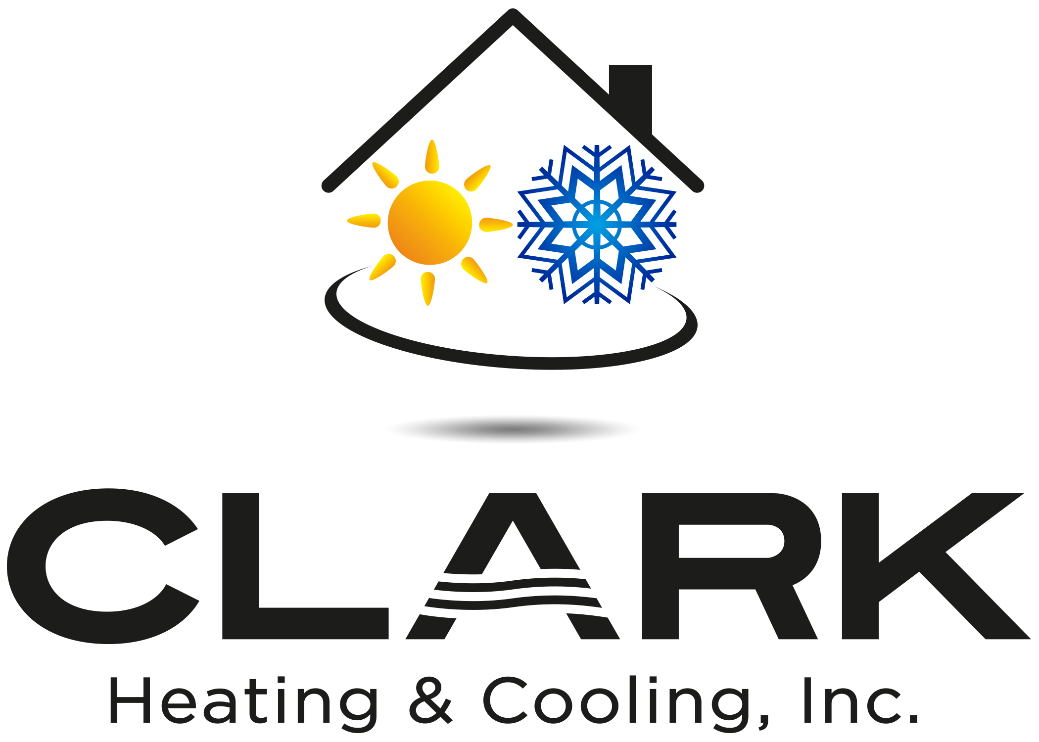 Clark Heating and Cooling logo, located in Milford Ohio