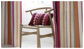 Handmade curtains - Burnley, Lancashire - Cushi Numbers - cream living room