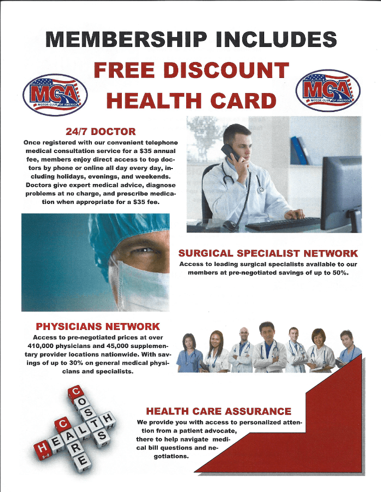 Membership Discounts Dental Vision Rx Accident Death