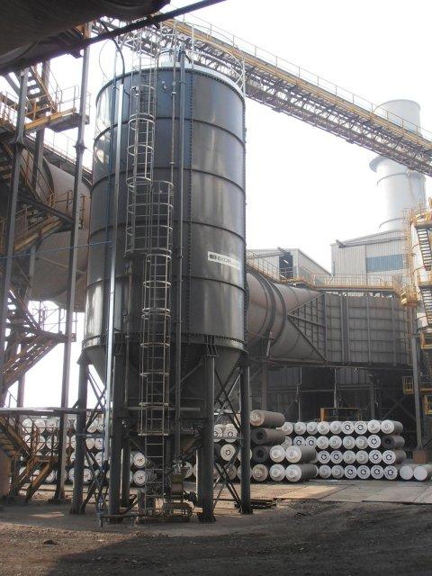 montaje de silos