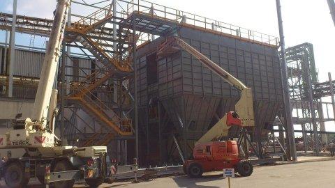 montaje de planta de eliminación de humos