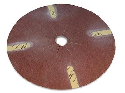 medium-grained sandpaper disc