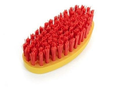 brushes with stiff bristles