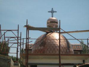 cupola di una chiesa in costruzione