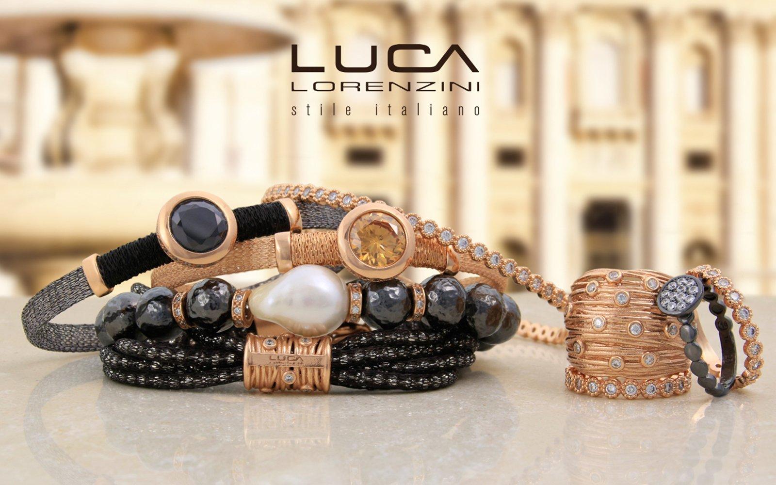 un depliant dei bracciali della marca Luca Lorenzini