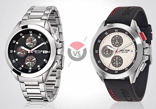due orologi di colori diversi della marca Sector