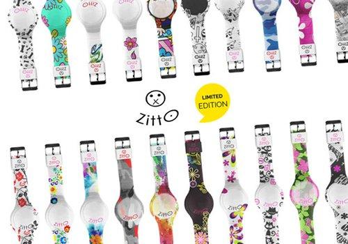 degli orologi bianchi e colorati della marca Zitto Limited Edition