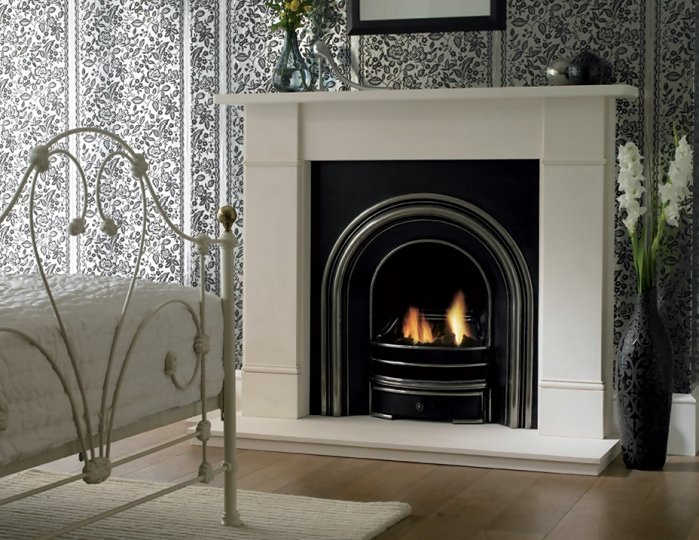 stylish fire place