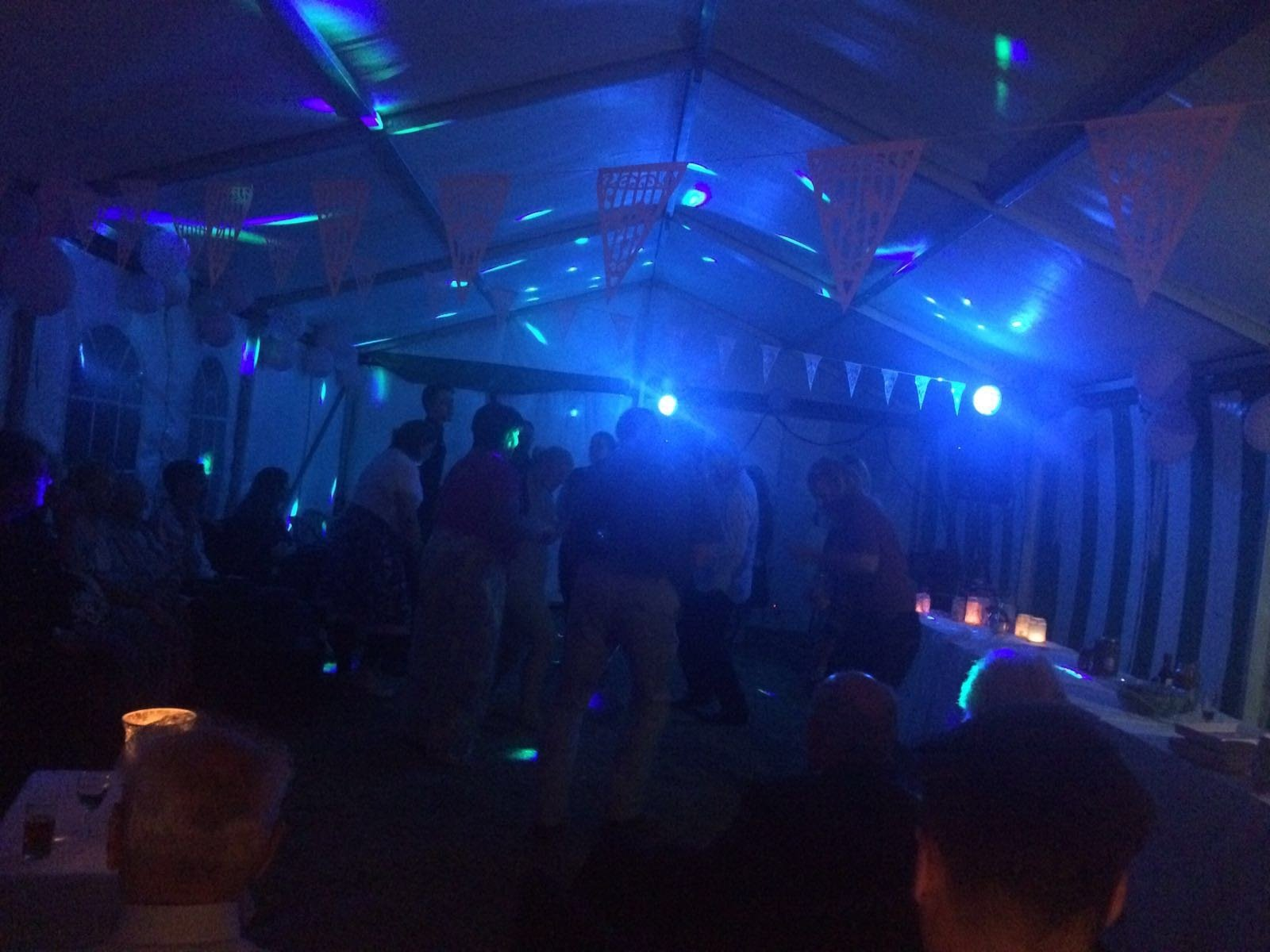 Party in the marquee