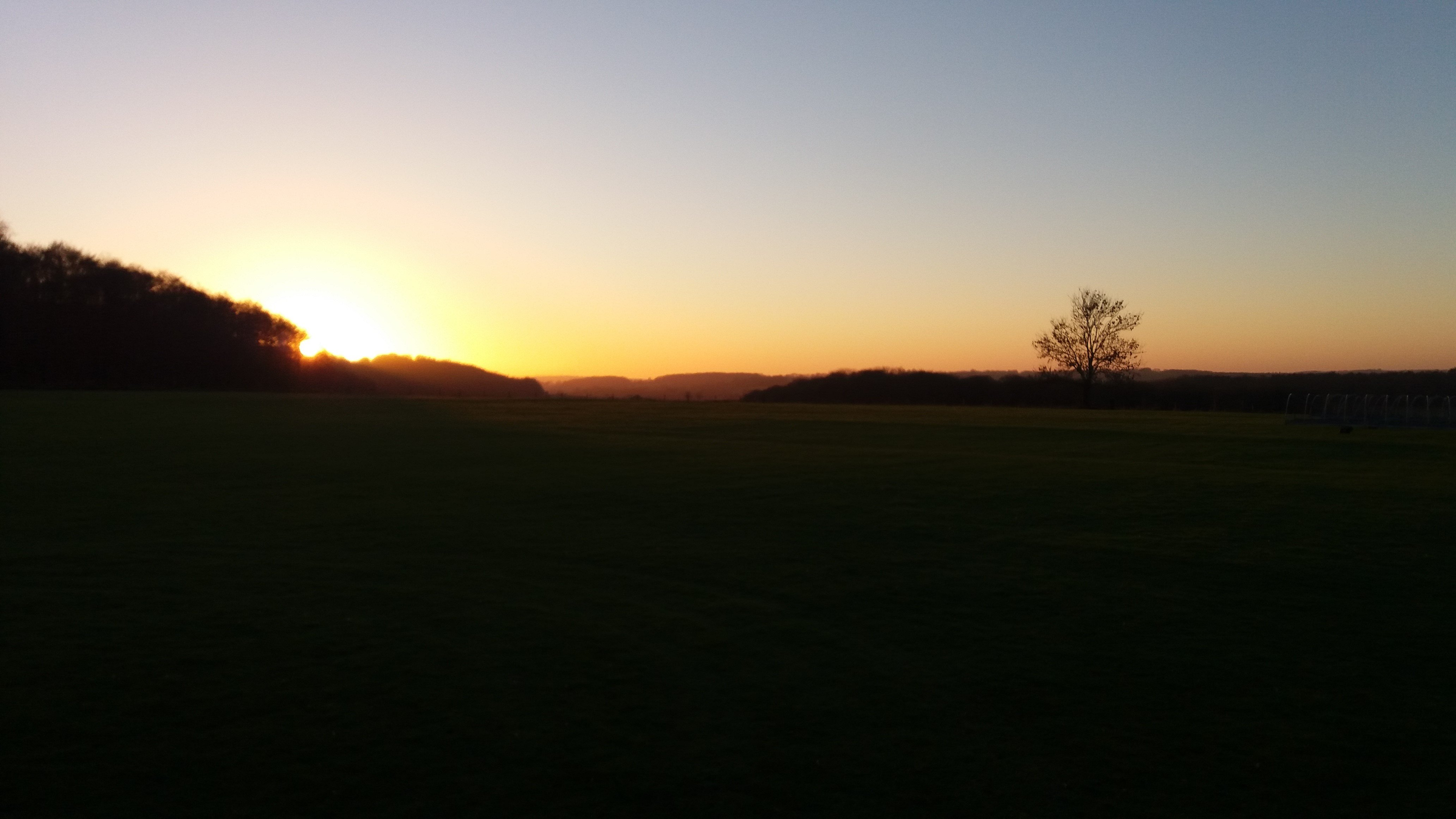 View of the sunset