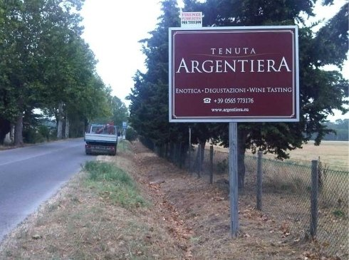 cartello pubblicitario Castegneto