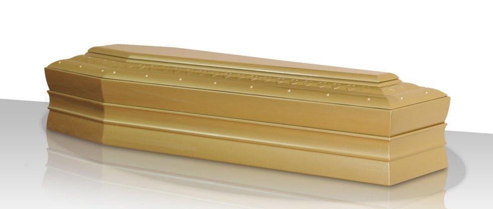 cofano funebre in legno chiaro