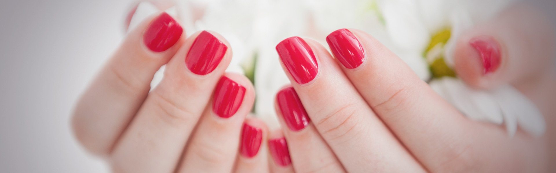 red nail colours