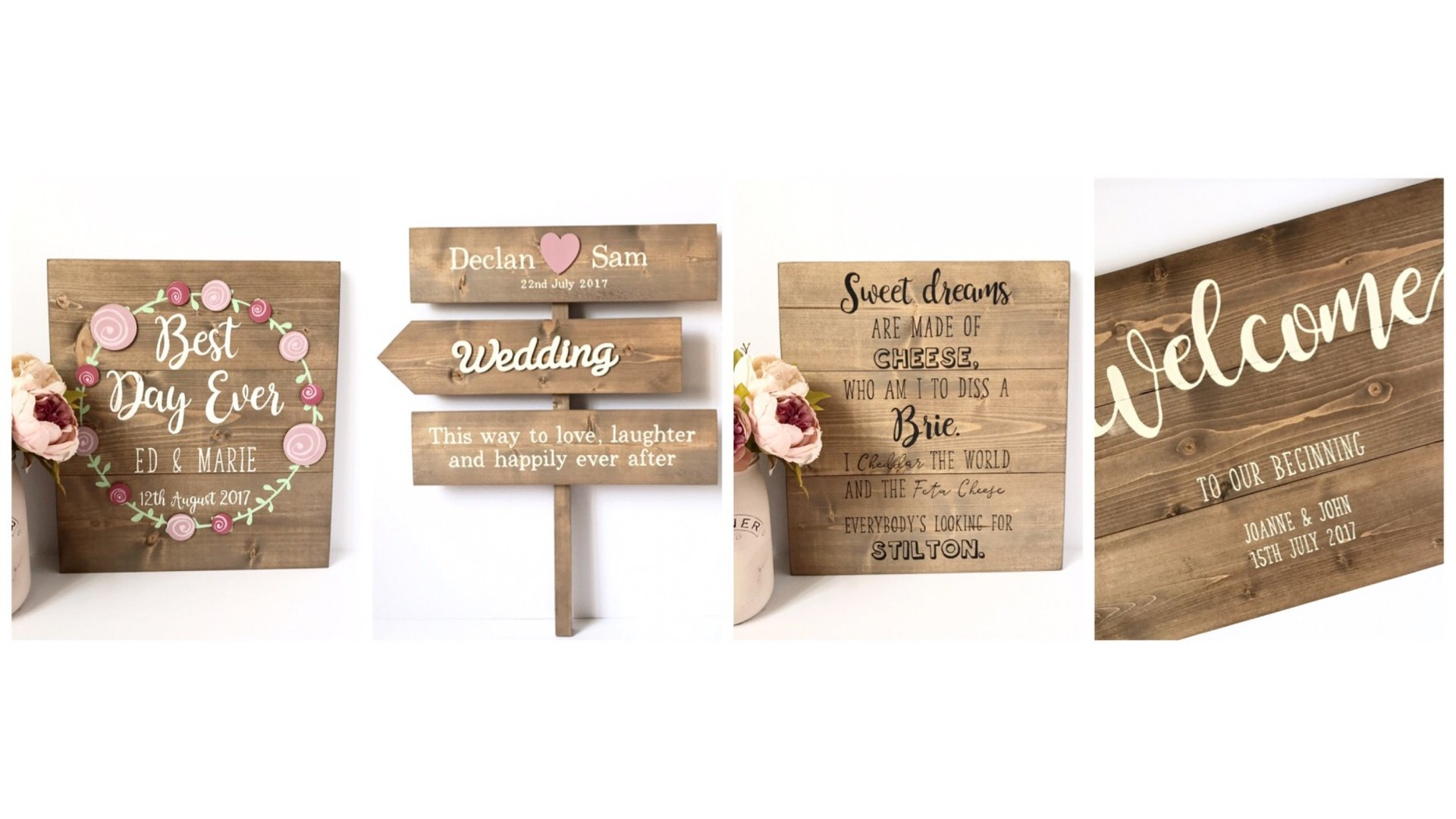 Unique personalised signs