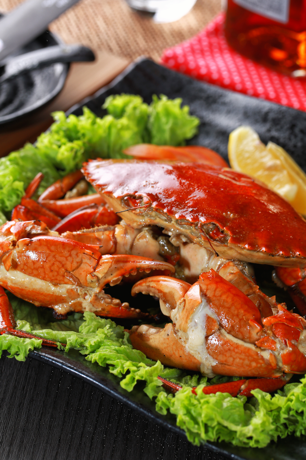 The finest Fire Crab is at Teppanyaki Kazuko-Ai