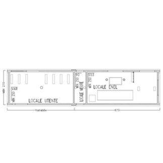 Cabina assemblata in opera per Enel