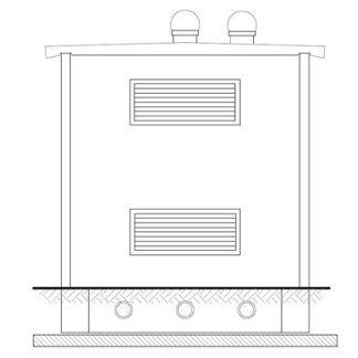 Cabina assemblata in opera 2