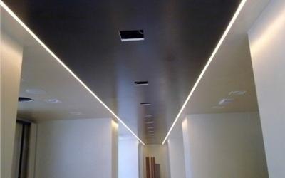 realizzazione si controsoffitto in cartongesso per illuminazione a soffito