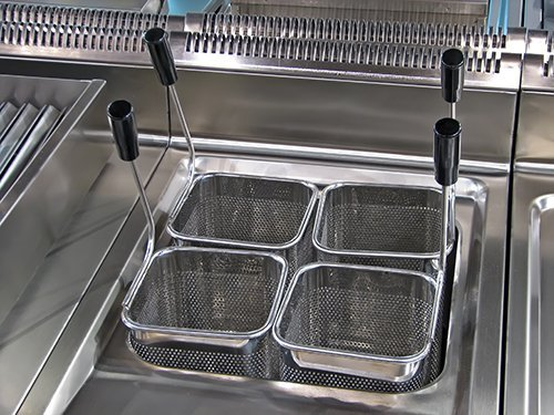View of a commercial oil fryer