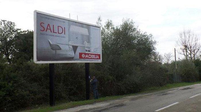 Affissione pubblicitari Via Milano Sassari