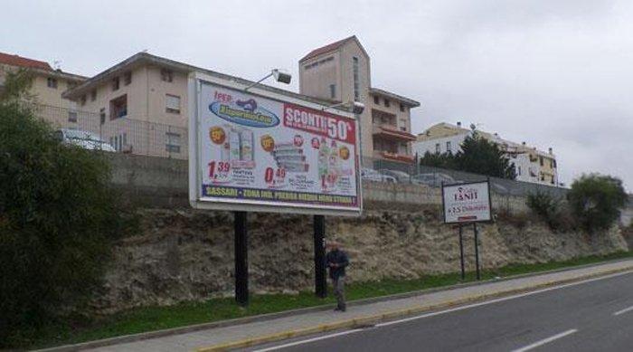Affissione Via Pirandello Sassari